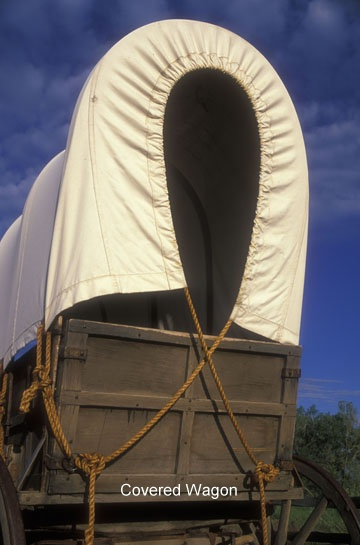 photo of a covered wagon
